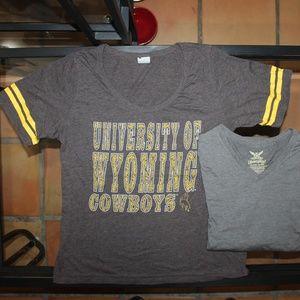 2 XL Shirts Univ. of Wyoming Cowboys
